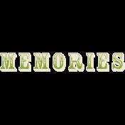 Memories and Traditions- Memories Wordart