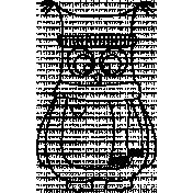 Owl Doodle Template 004