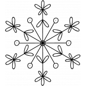 Snowflake Doodle Template 019