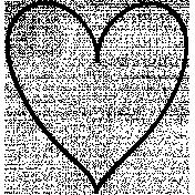 Heart Doodle Template 025
