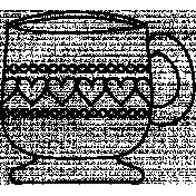 Mug Doodle Template 006
