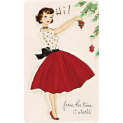 Memories and Traditions- Ephemera Card Lady and Ornament