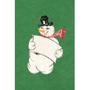Memories & Traditions- 4x6 Snowman Journal Card