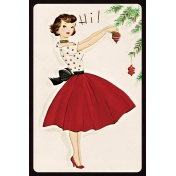 Memories & Traditions- 4x6 Tree Decorating Journal Card