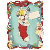 Memories and Traditions- Dog Ephemera Card
