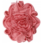 Memories and Traditions - Pink Fabric Flower