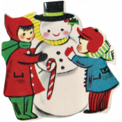 Memories and Traditions- Children and Snowman Ephemera