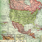 Toolbox Paper- North America Map Lower