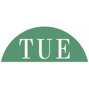 Toolbox Calendar- Date Sticker Kit- Days- Dark Green Tuesday