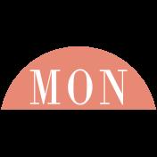 Toolbox Calendar- Date Sticker Kit- Days- Dark Peach Monday