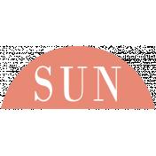 Toolbox Calendar- Date Sticker Kit- Days- Dark Peach Sunday