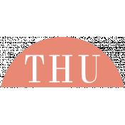 Toolbox Calendar- Date Sticker Kit- Days- Dark Peach Thursday