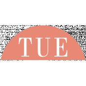 Toolbox Calendar- Date Sticker Kit- Days- Dark Peach Tuesday