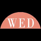 Toolbox Calendar- Date Sticker Kit- Days- Dark Peach Wednesday