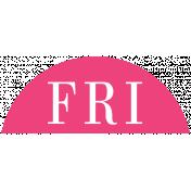 Toolbox Calendar- Date Sticker Kit- Days- Dark Pink Friday