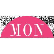Toolbox Calendar- Date Sticker Kit- Days- Dark Pink Monday