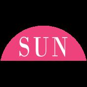 Toolbox Calendar- Date Sticker Kit- Days- Dark Pink Sunday