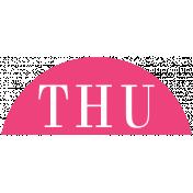 Toolbox Calendar- Date Sticker Kit- Days- Dark Pink Thursday