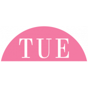 Toolbox Calendar- Date Sticker Kit- Days- Dark Pink Tuesday