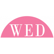 Toolbox Calendar- Date Sticker Kit- Days- Dark Pink Wednesday
