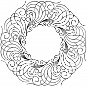 Ornamental Stamp Template 102