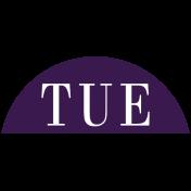 Toolbox Calendar- Date Sticker Kit- Days- Dark Purple Tuesday