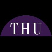 Toolbox Calendar- Date Sticker Kit- Days- Dark Purple Thursday