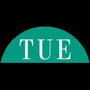 Toolbox Calendar- Date Sticker Kit- Days- Dark teal Tuesday
