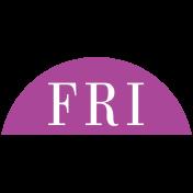 Toolbox Calendar- Date Sticker Kit- Days- Fuschia Friday