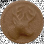Winter Fun - Brown Button
