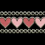 Winter Fun- Heart Border Doodle