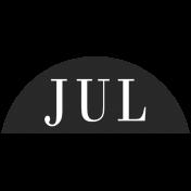 Toolbox Calendar- Date Sticker Kit- Months- Black July