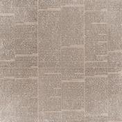 Winter Fun- Brown Newsprint