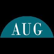 Toolbox Calendar- Date Sticker Kit- Months- Aqua August