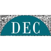 Toolbox Calendar- Date Sticker Kit- Months- Aqua December