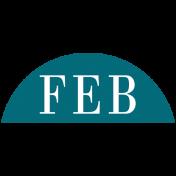 Toolbox Calendar- Date Sticker Kit- Months- Aqua February