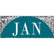 Toolbox Calendar- Date Sticker Kit- Months- Aqua January