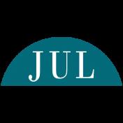 Toolbox Calendar- Date Sticker Kit- Months- Aqua July