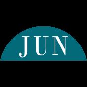 Toolbox Calendar- Date Sticker Kit- Months- Aqua June