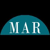 Toolbox Calendar- Date Sticker Kit- Months- Aqua March
