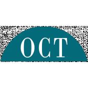 Toolbox Calendar- Date Sticker Kit- Months- Aqua October