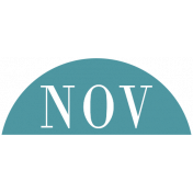 Toolbox Calendar- Date Sticker Kit- Months- Aqua November