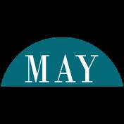 Toolbox Calendar- Date Sticker Kit- Months- Aqua May