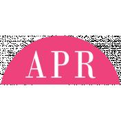 Toolbox Calendar- Date Sticker Kit- Months- Dark Pink April