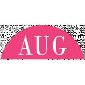 Toolbox Calendar- Date Sticker Kit- Months- Dark Pink August