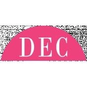Toolbox Calendar- Date Sticker Kit- Months- Dark Pink December