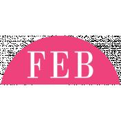 Toolbox Calendar- Date Sticker Kit- Months- Dark Pink February