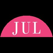 Toolbox Calendar- Date Sticker Kit- Months- Dark Pink July