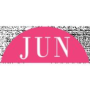 Toolbox Calendar- Date Sticker Kit- Months- Dark Pink June