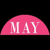 Toolbox Calendar- Date Sticker Kit- Months- Dark Pink May